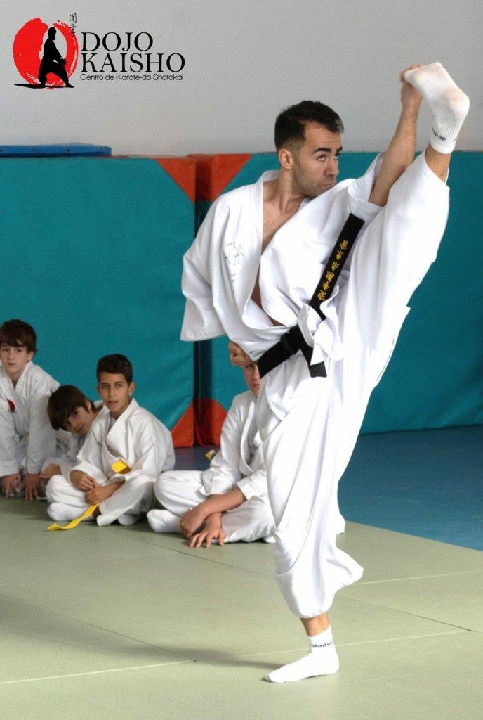 antonio orta posicion de karate dojo kaisho