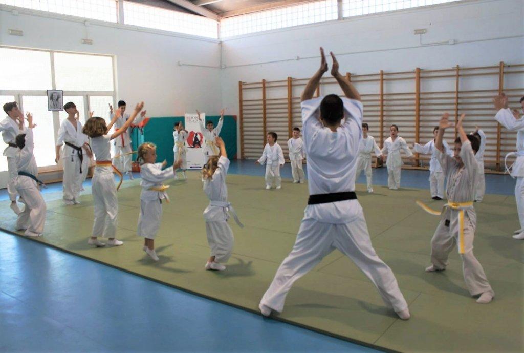 metodologia de una clase en dojo kaisho. calentamiento