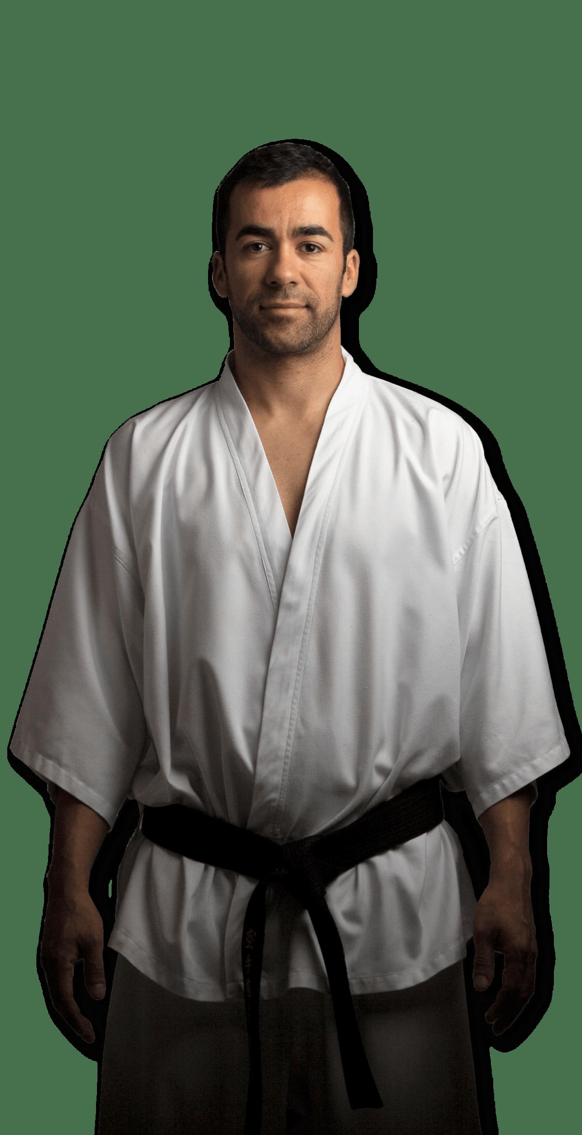 profesor de karate en dojo kaisho
